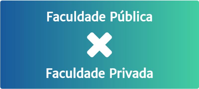 Faculdade pública versus privada